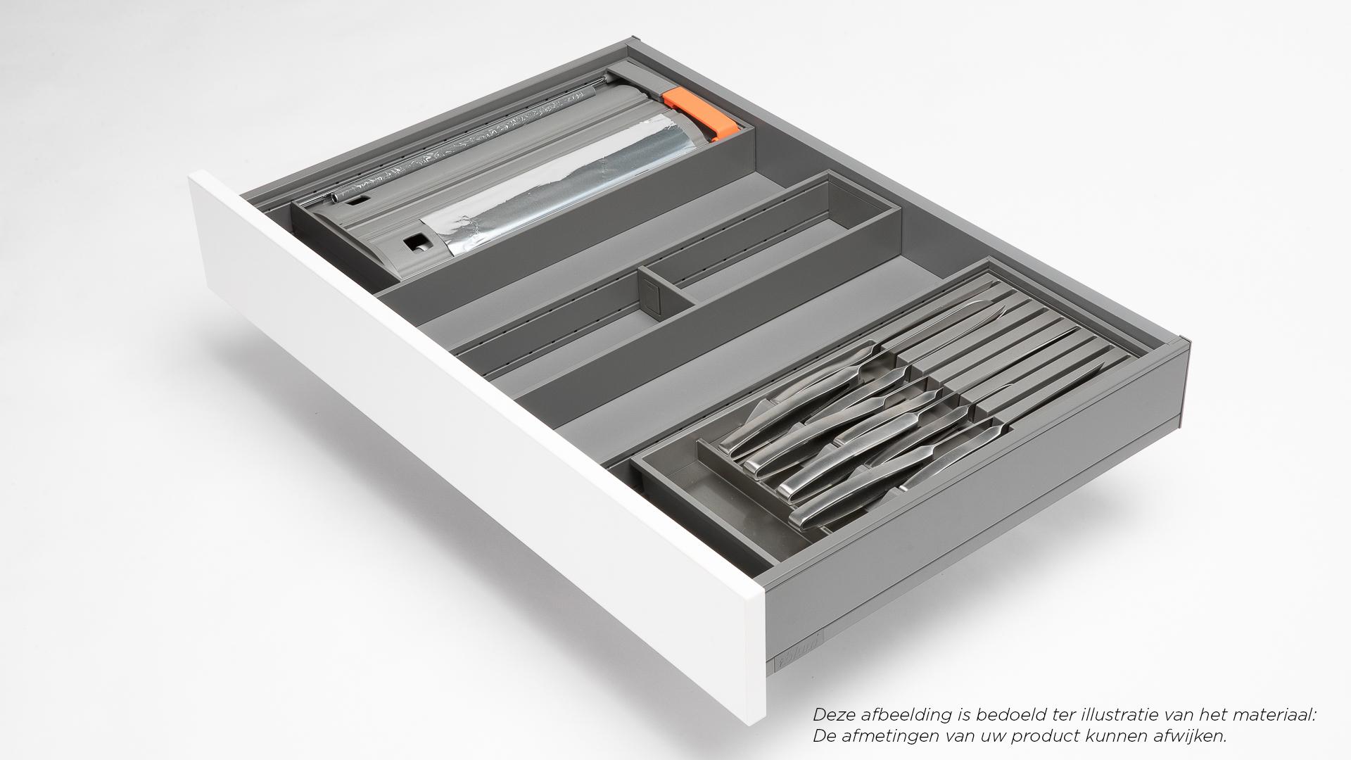 Steel sally ustensiles de cuisine couteaux film alimentaire rangements pour tiroirs orgalux - Ustensiles de cuisine belgique ...